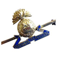 Fine ENGLISH Regimental Gold Brooch
