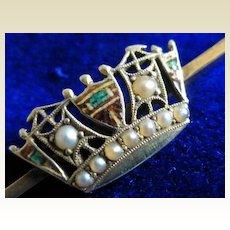 "Royal Navy Diamond ""Sweetheart"" Brooch"