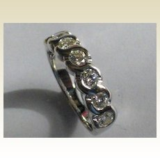 Fine Diamond half Eternity Ring