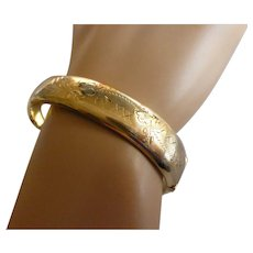 Wide Hallmarked 1968 Gold Bangle