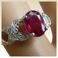 Nice Ruby & Diamond Ring , At a nice PRICE !