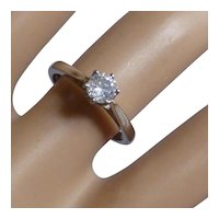 Classic single Stone Diamond PLATINUM Ring * * * * *