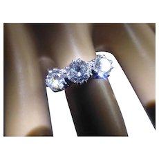 Fine 3 stone Diamond ring