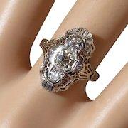 Beautiful vintage 18k Diamond Ring