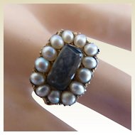 Victorian Seed Pearl 15k ENGLISH Gold Ring