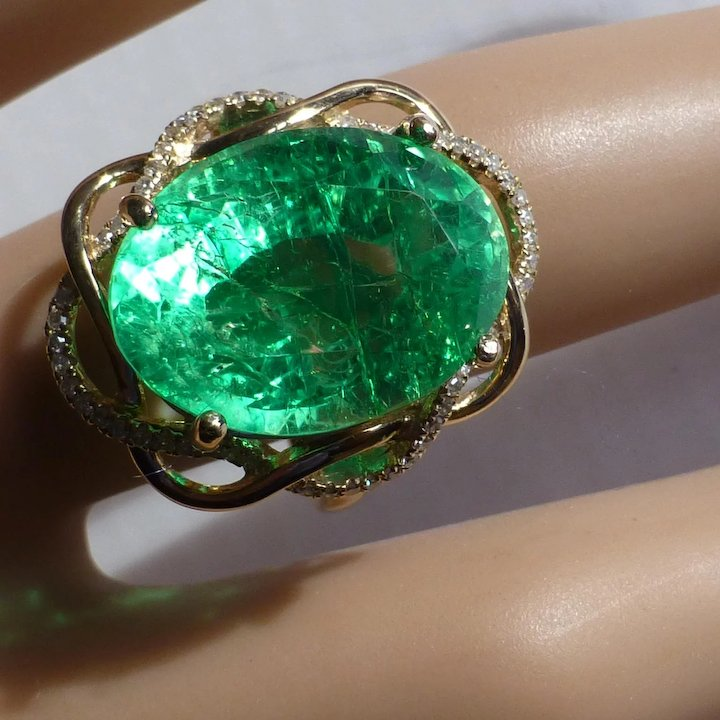 ladies round real yellow anniversary picture ring gold p of cut brilliant emerald s tcw