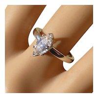 Marquise Shape Diamond 18k Ring * * * * *