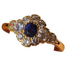 Expanding Sapphire & Diamond Low profile Ring