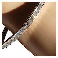 "11 Carats of  Princess Cut Diamonds in a ""Tennis"" Bracelet…... at this price !"