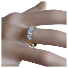 Traditional, classic 3 stone Diamond Ring