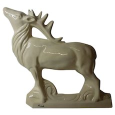 Art Deco French Animalier Stag Statue