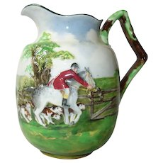 Royal Doulton Embossed Hunting Scene Jug 1910