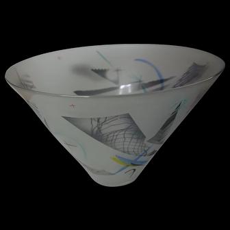 Art Glass Studio Bowl H Miller 1987