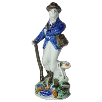 Pearlware Figure Gamekeeper 1820
