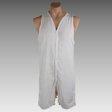 1930s Vintage Union Suit Mens One Piece Short Under Wear by Sears 44 Tall