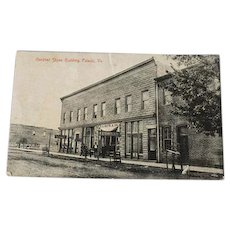 Vintage Postcard Post Card Black and White Gardner Stone Building Pulaski VA