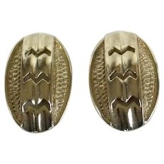 1959 Vintage Earrings Goldtone Sarah Coventry Turn A Bout Clipons SAC