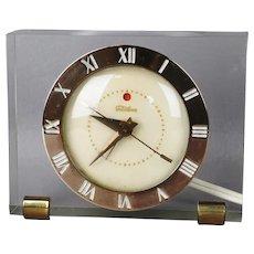 Vintgae Lucite Telechron Mid Century Clock - Electric w/ Alarm