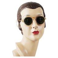 1950s Vintage Sunglasses Nude Plastic Small Sz