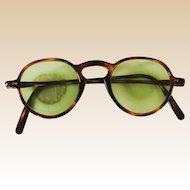 Vintage Sunglasses Faux Tortoise Celluloid Round Eyeglasses