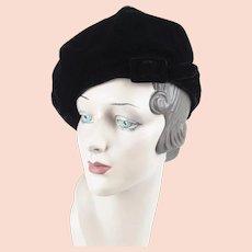 5b965c94 Vintage Mink Beret Hat Buff to Blonde 1960s : Toinette's Vintage ...