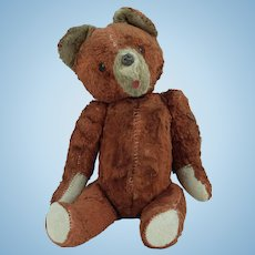 1950s Vintage Fur Teddy Bear ~ Jointed Limbs ~ Much Loved