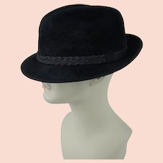 1970s Vintage Stetson Fedora Black Fur Felt The Sovereign Sz 7 3/8