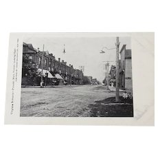Vintage Postcard Post Card Black and White Photo Main Street Pulaski VA