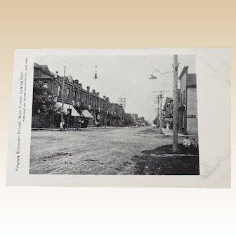 Vintage Postcard Post Card Black and White Photo Main Street Pulaski VA