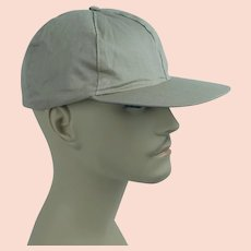 1950s Vintage Workwear Cap khaki Ball Cap Style - Drop Ear Flaps - NOS New Old Stock Sz 7 1/8