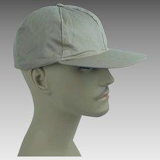 1950s Vintage Workwear Cap khaki Ball Cap Style - Drop Ear Flaps - NOS New Old Stock Sz 7 1/8
