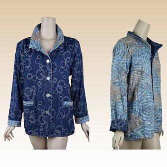 Vintage NOS Denim Jacket - Reversible - Deadstock w/ Tags by Multiples Sz XL