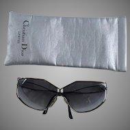 1980s Vintage Dior Sunglasses - Lunettes - Oversized - Metal Frames - Original Case
