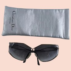 f8a0c1e31c5df 1980s Vintage Dior Sunglasses - Lunettes - Oversized - Metal Frames -  Original Case