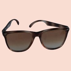 e8ce3c7977 1980s Vintage Sunglasses - Oversized Non-Prescription Faux Tortoise - Made  in France