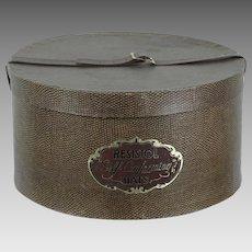 65baab3f7660d Vintage Hat Box - Man s Resistol Self Conforming Hatbox - Faux Pebble w   Vinyl Strap