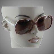 1980s Vintage Sunglasses - Oversized Non-Prescription White and Bronze - BerDel Tropics