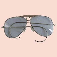 Vintage Aviator Style Eyeglasses w/ Cable Temples - Unisex
