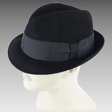 Vintage Hat Kevin McAndrew 5X Black Beaver Fedora ~ Trilby Sz 7 ~ 22 Inches