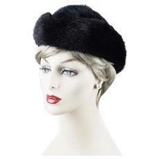 6a74450ccbd Alley Cats Vintage.  40 USD. Vintage Hat Black Mink Toque ~ Don Anderson ~  Sz 22-23