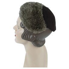 a0c9b515dd7 1930s Vintage Hat ~ Mouton and Brown Wool Cap ~ Best and Co. Alley Cats  Vintage