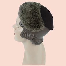 1930s Vintage Hat ~  Mouton and Brown Wool Cap ~ Best and Co