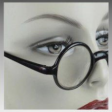 1930s Vintage Eyeglasses - Brown Celluloid - Round Prescription Glasses
