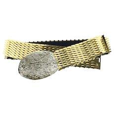 Vintage Gold Stretch Belt, Wide Fish Scale Belt