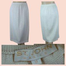 St John Basics, Ivory Santana Knit Skirt Size 10