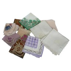 10 Exquisite Silk Hankies Handpainted Handkerchief
