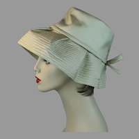 70s Gold Silk Floppy Wide Brim Hat by Betmar, Size 21 1/2