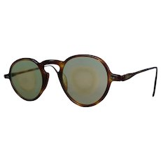 1940s Cellulose Sharpshooter Sunglasses, Utility Sporting Sunglasses, Faux Tortoise