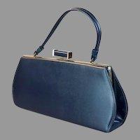 60s Navy Blue Envelope Style Handbag
