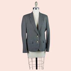 90's Khaki Wool Suit Jacket by Corbin Ltd, Sz